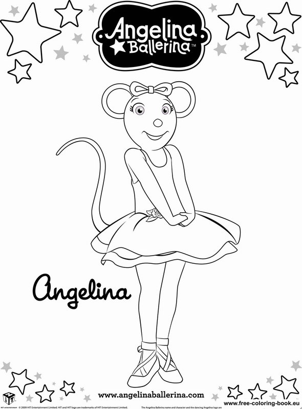 printable coloring pages angelina ballerina - photo#16