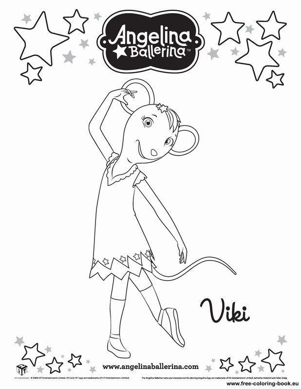 Coloring pages Angelina Ballerina - Printable Coloring Pages Online