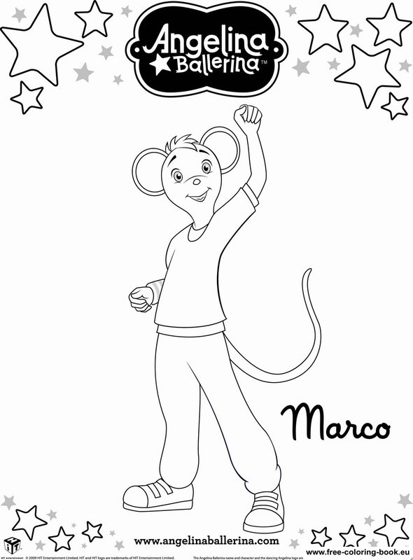 printable coloring pages angelina ballerina - photo#25