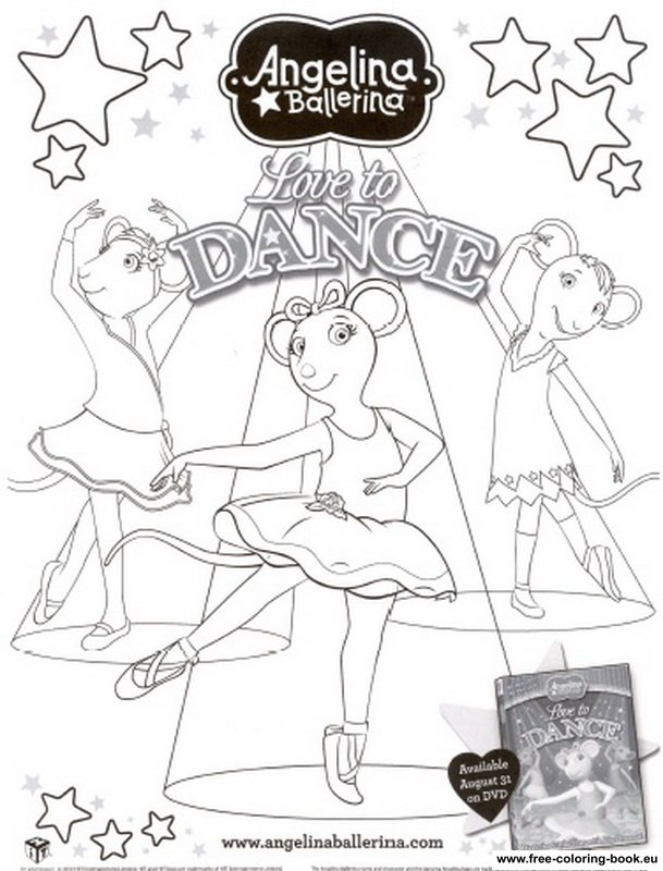 printable coloring pages angelina ballerina - photo#6