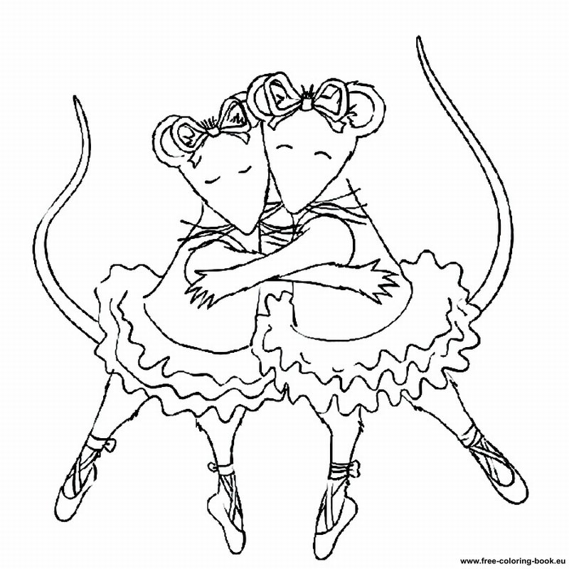printable coloring pages angelina ballerina - photo#4