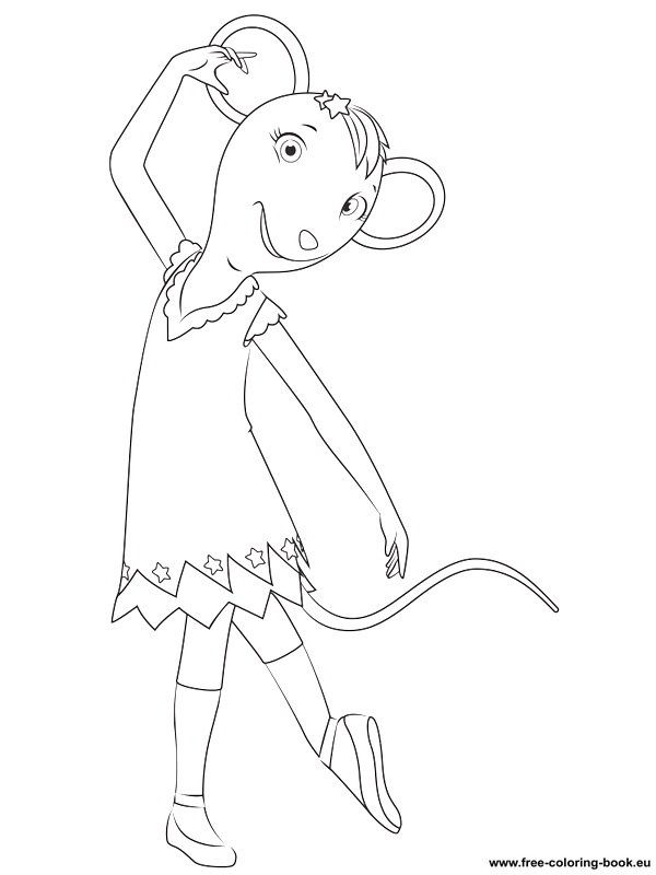 printable coloring pages angelina ballerina - photo#13