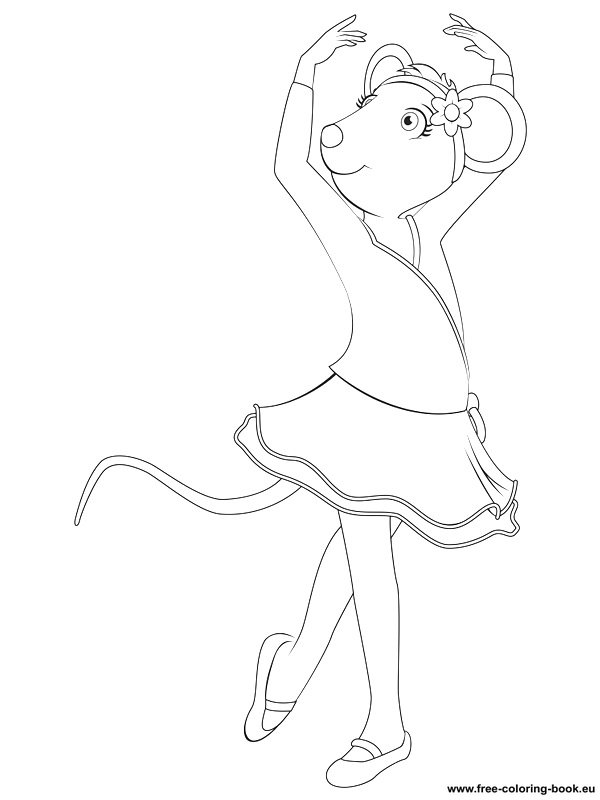 printable coloring pages angelina ballerina - photo#12