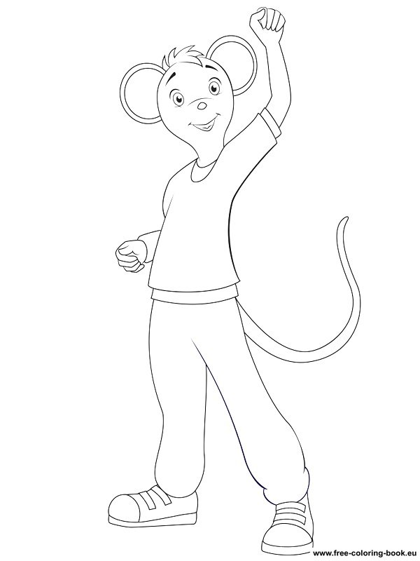 Coloring Pages Angelina Ballerina Printable Coloring