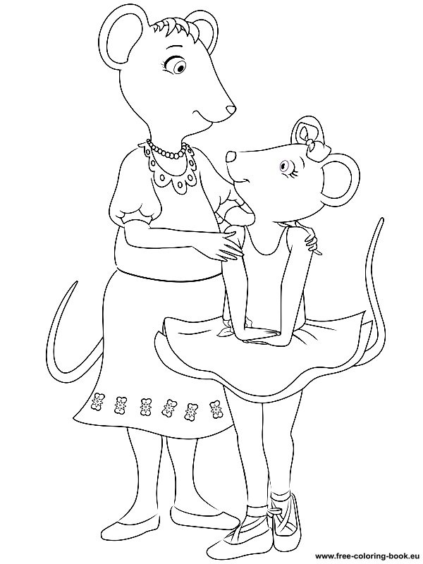 printable coloring pages angelina ballerina - photo#24