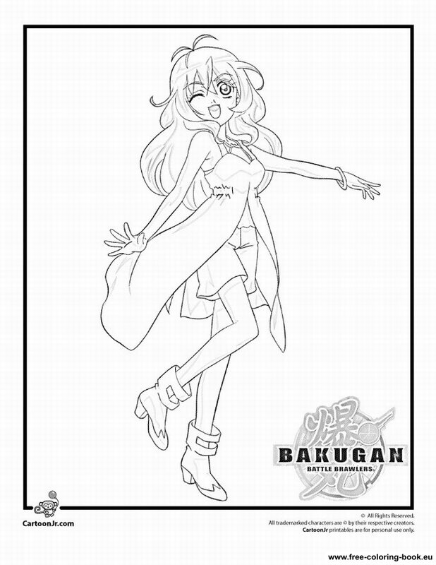 bakugan battle brawlers coloring pages - photo#1