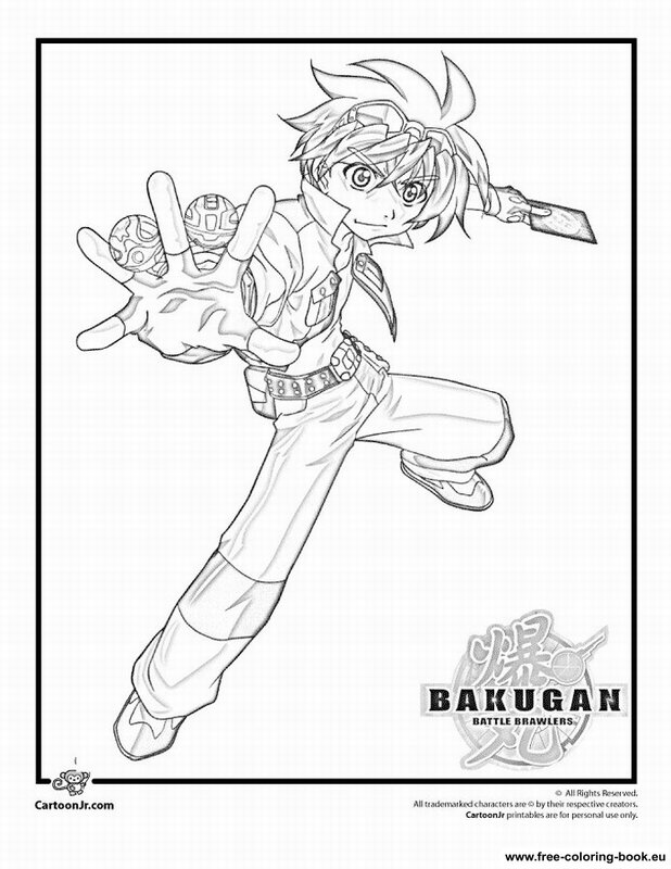 bakugan battle brawlers coloring pages - photo#14