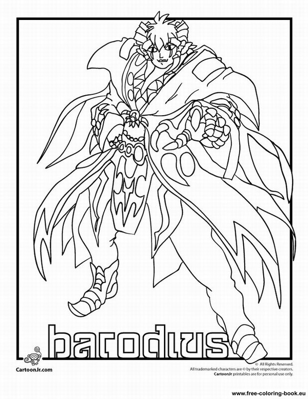 bakugan battle brawlers coloring pages - photo#29