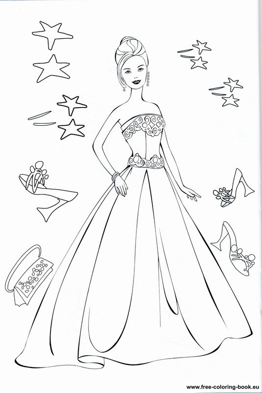Coloring pages Barbie Page 1