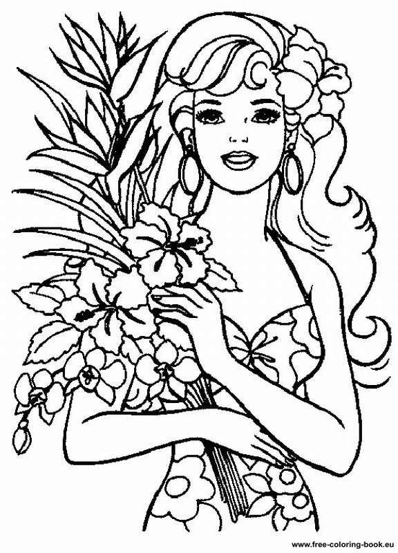 Coloring pages barbie page 2 printable coloring pages for Barbie free printable coloring pages