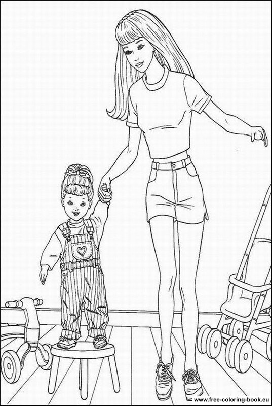 Coloring Pages Barbie Page 2 Printable Coloring Pages