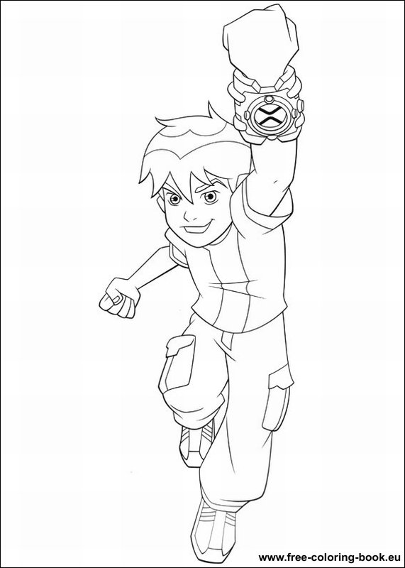 Coloring pages Ben 10 page 1 Printable Coloring Pages