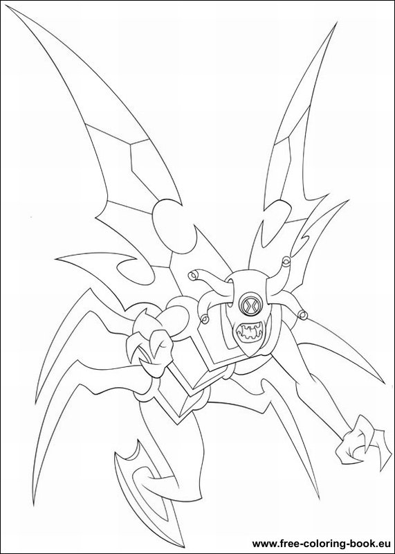 Coloring pages Ben 10 - page 1 - Printable Coloring Pages Online