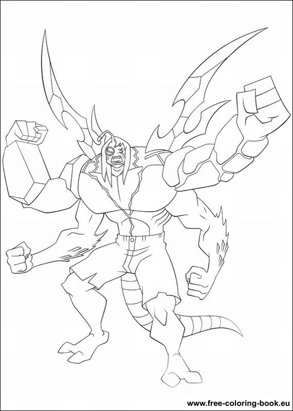 Goop From Ben 10 Alien Force Coloring Page - Download & Print ... | 800x571