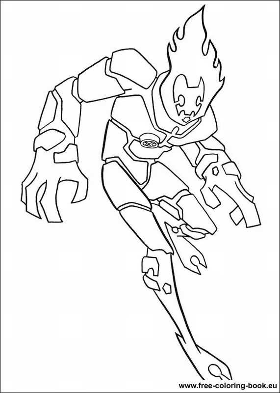 coloring pages ben 10 - page 1 - printable coloring pages online - Ben Ten Alien Force Coloring Pages