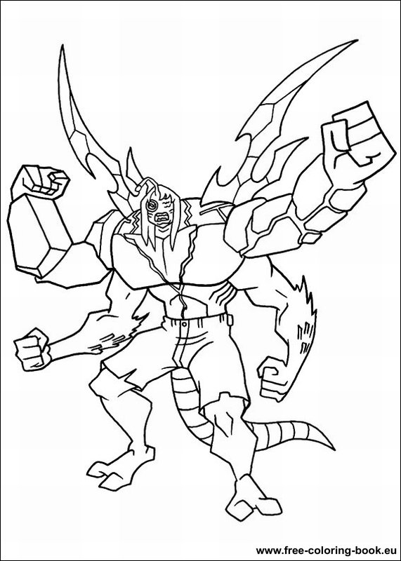 coloring pages ben 10