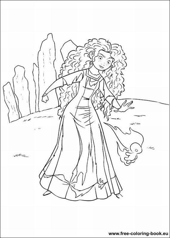 Coloring pages Brave page 1 Printable Coloring Pages