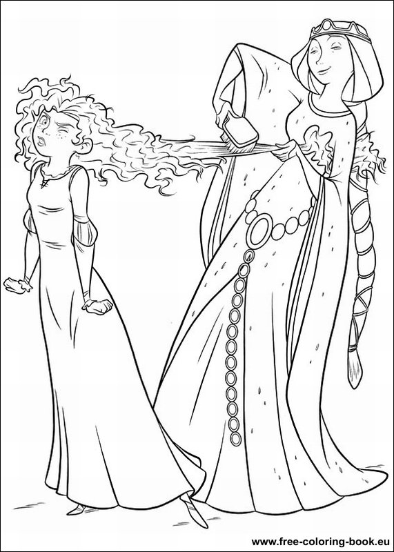 brave coloring pages games free - photo#9