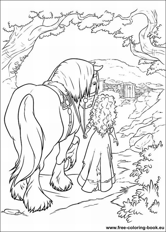 Coloring pages Brave page 2