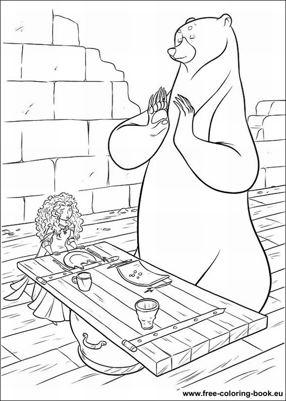 Coloring pages Brave page 3