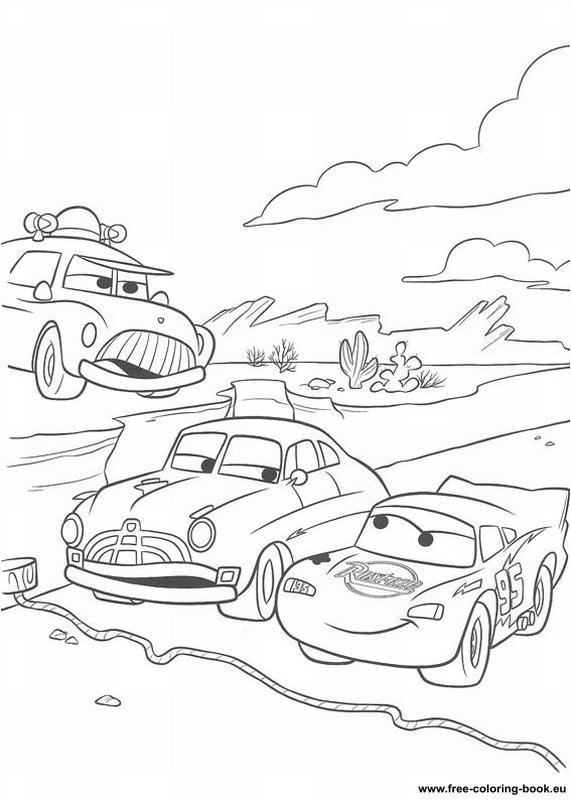 pixar movie cars coloring pages - photo#4
