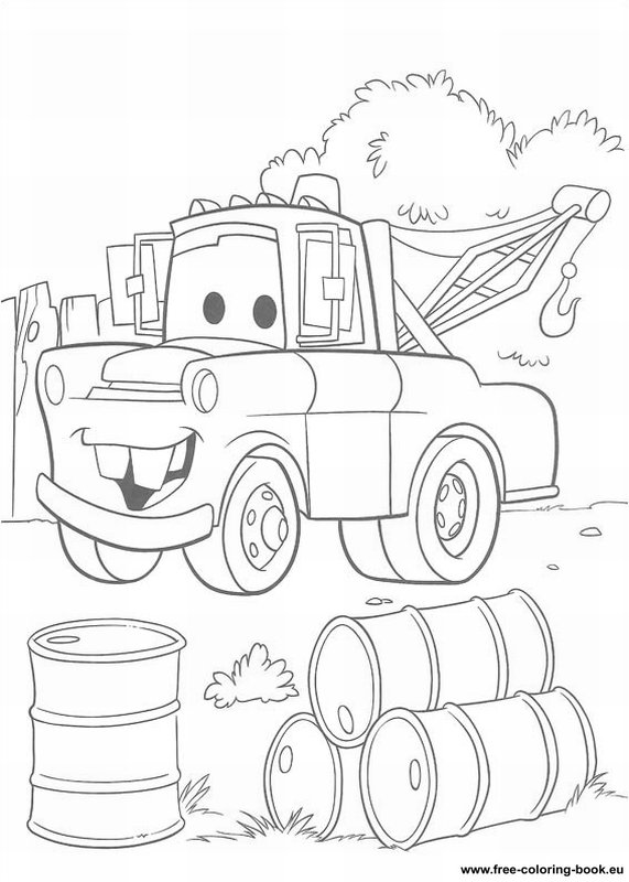 How To Draw Tow Mater Coloring Pages : Color Luna | 800x571