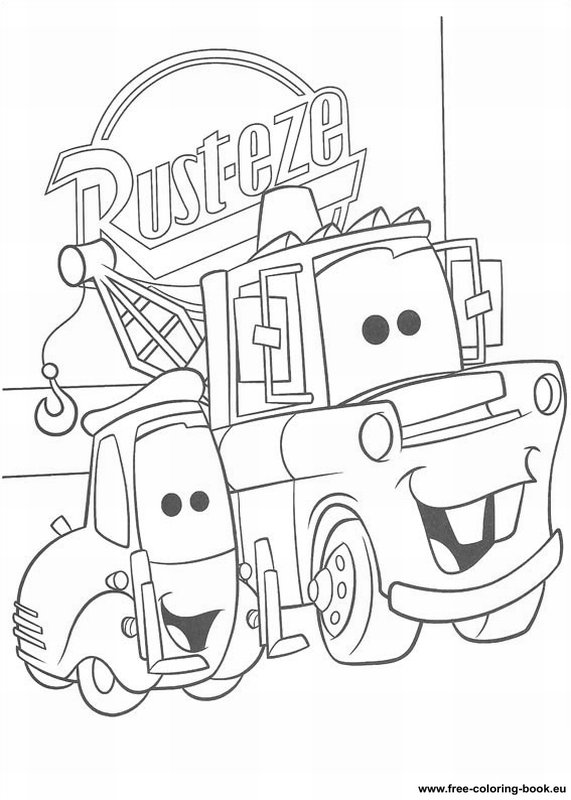 Disney cars coloring pages free ~ Coloring pages Cars Disney Pixar - Page 1 - Printable ...