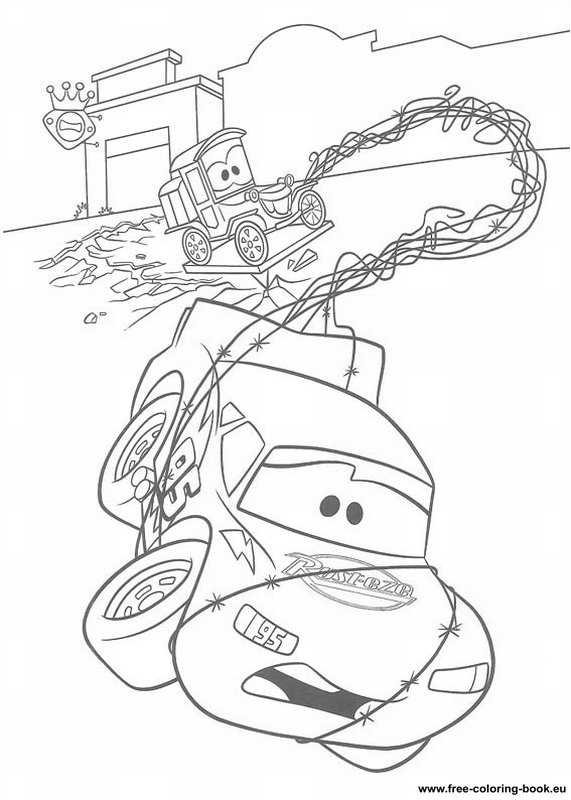 Cars 2 coloring pages for kids, printable free | 800x571
