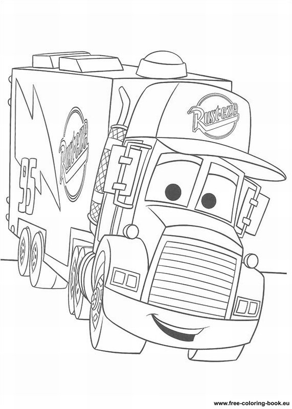 Coloring Pages Cars Disney Pixar Page 1 Printable Free Printable Car Coloring Pages