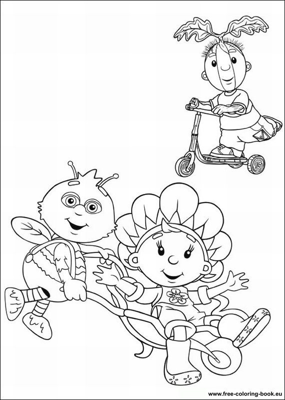 Coloring Pages Fifi And The Flowertots Printable