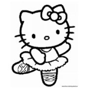 hello kitty at the beach colouring pages page 2