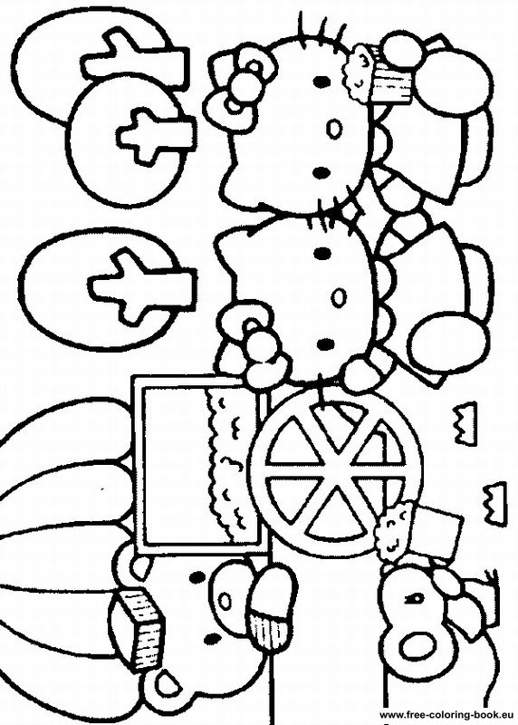 Free Coloring Pages Of Hello Kitty Hawaii