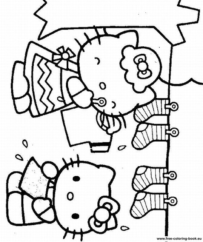 Coloring pages Hello Kitty - Printable Coloring Pages Online