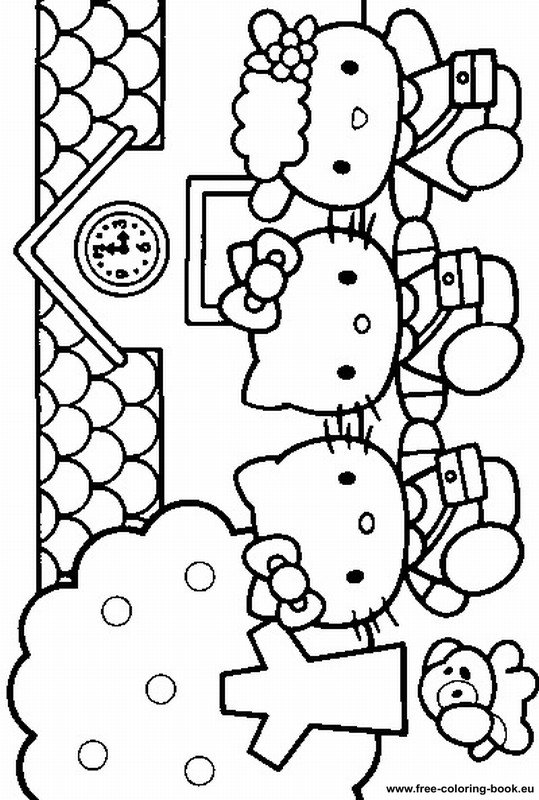 målarbilder för barn hello kitty