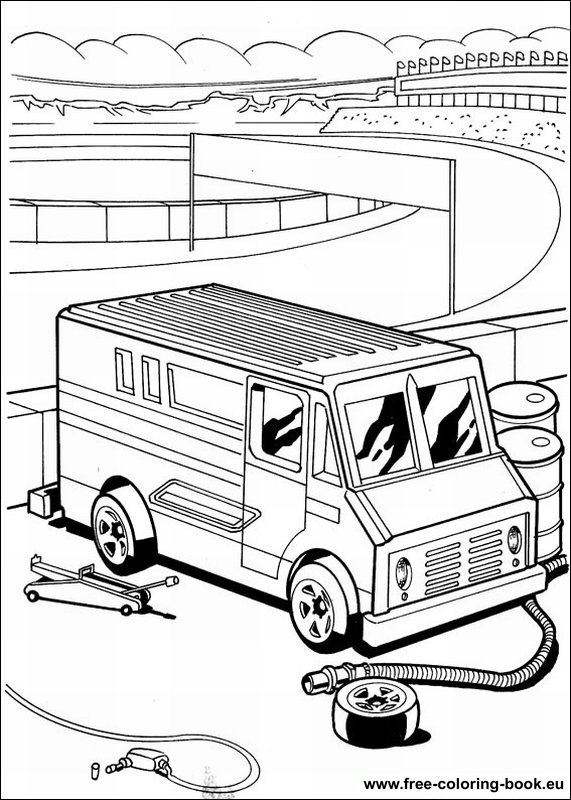 Coloring pages Hot Wheels Page