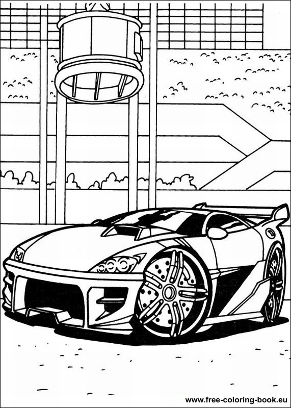 Coloring Pages Hot Wheels Page 1 Printable Coloring