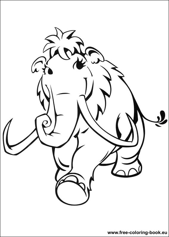 Coloring pages Ice Age - Page 1 - Printable Coloring Pages Online
