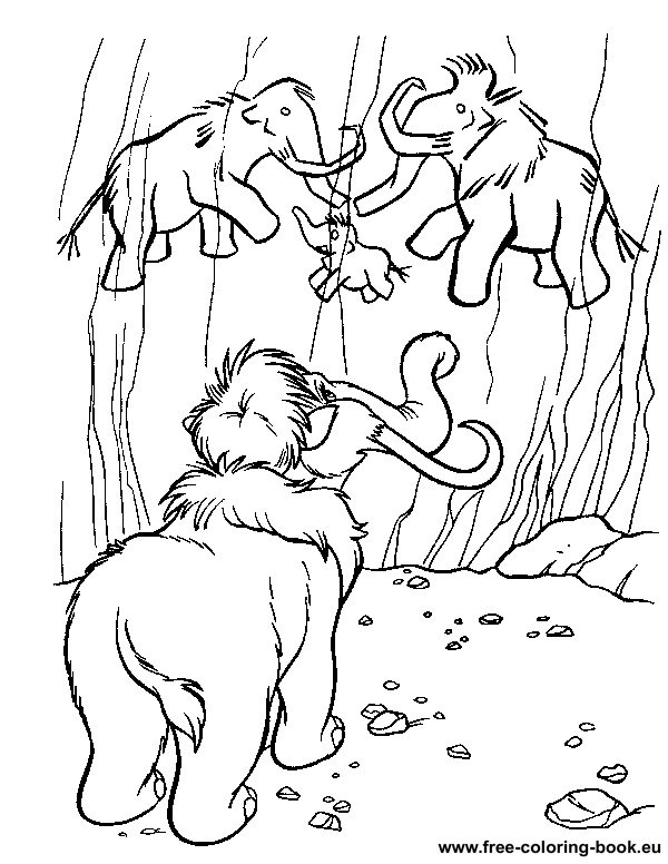 coloring pages ice age page 1 printable coloring pages online Despicable Me Coloring Pages  Ice Age Coloring Book Pages