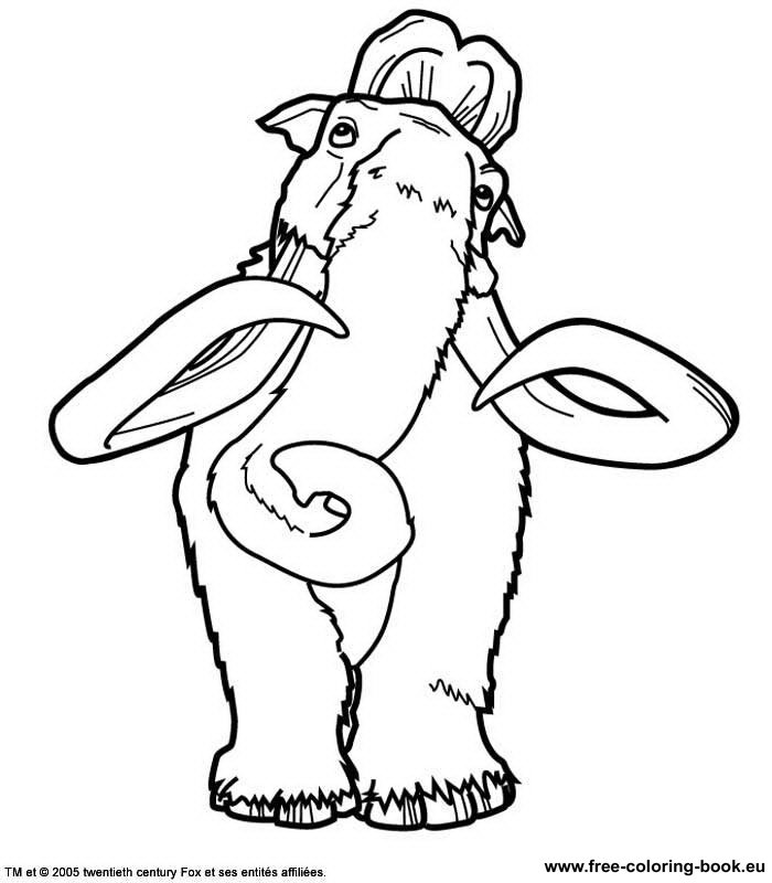 Coloring pages Ice Age Page 2