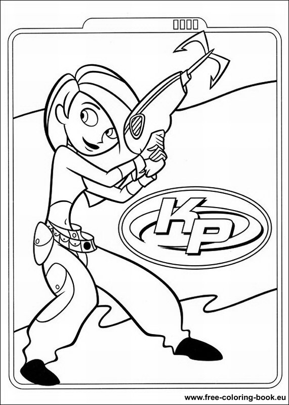 coloring pages kim possible - photo#1