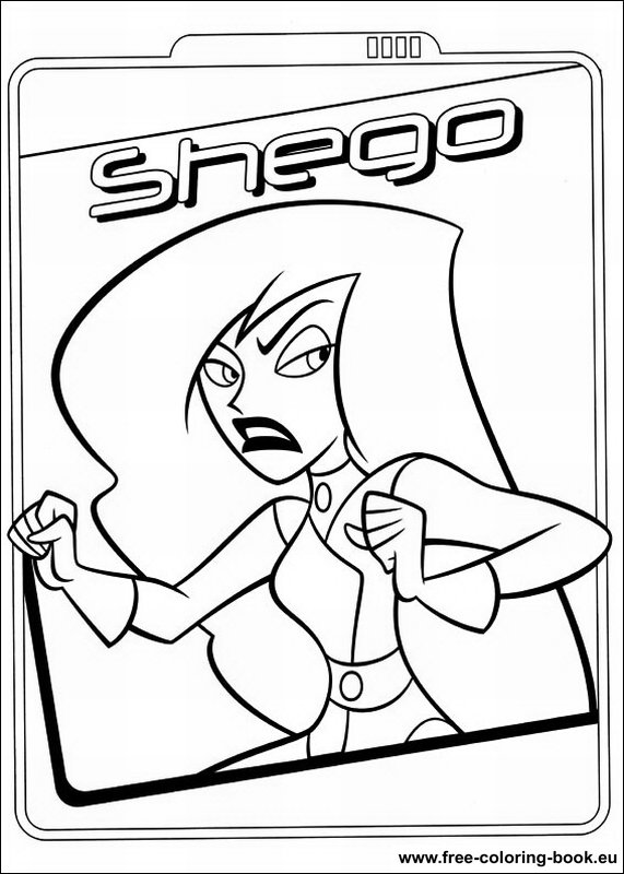 Coloring pages Kim Possible Printable