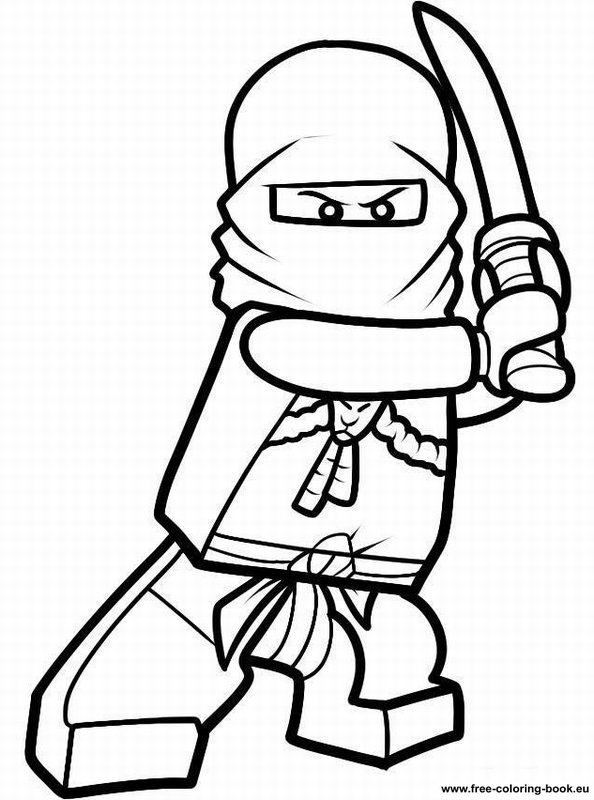 Colorize Lego Ninja Colouring Pages