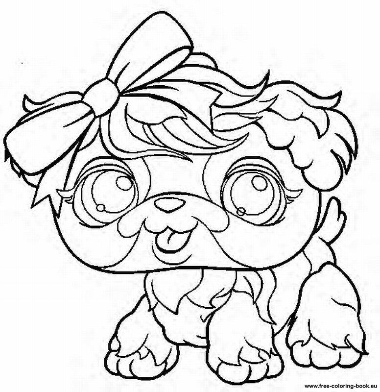 Coloring pages littlest pet shop page 2 printable for Pet shop coloring pages