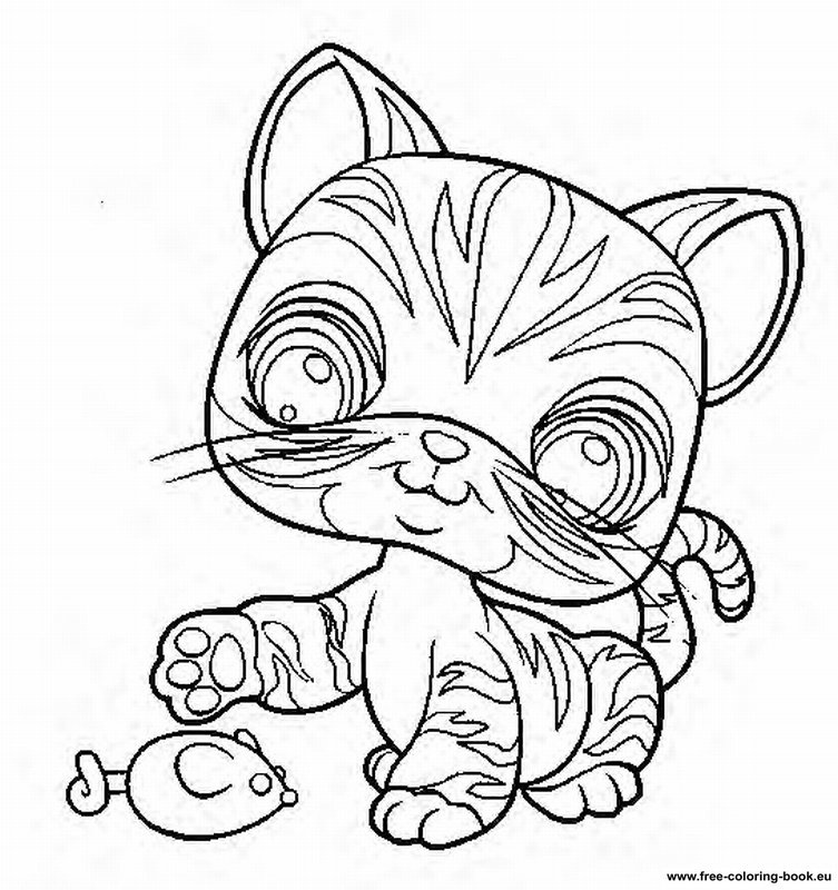 lps coloring pages kitten - photo#26