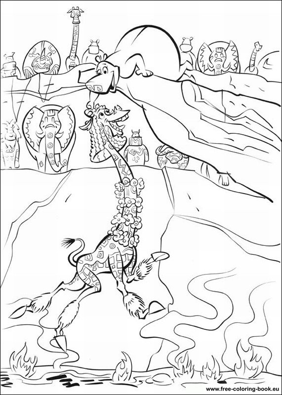 coloring pages of madagascar 2 - photo#5