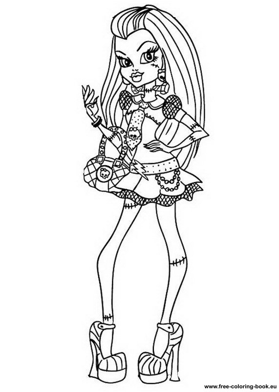 Coloring pages Monster High - Page 1 - Printable Coloring Pages Online