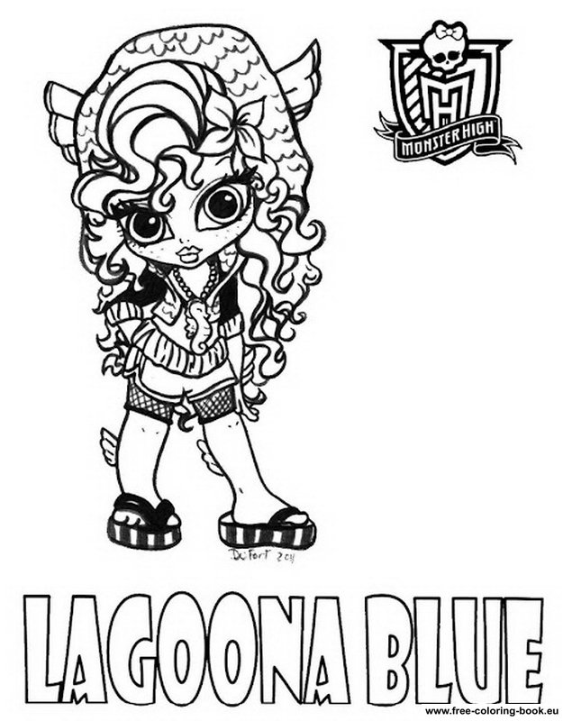monster high coloring pages lagoona - photo#36