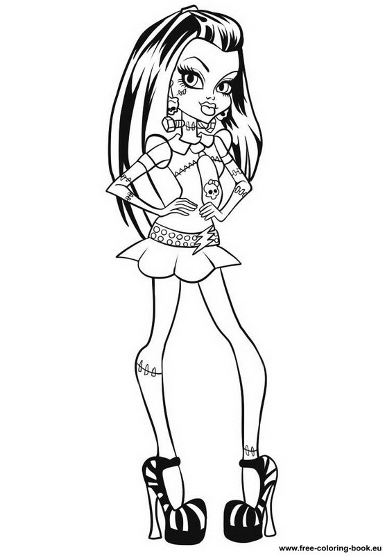 Coloring pages Monster High Page