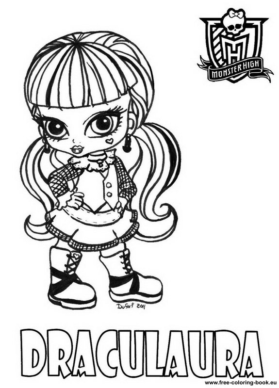 Surprise Ghoulia Yelps Monster High Coloring Pages | Monster ... | 800x575