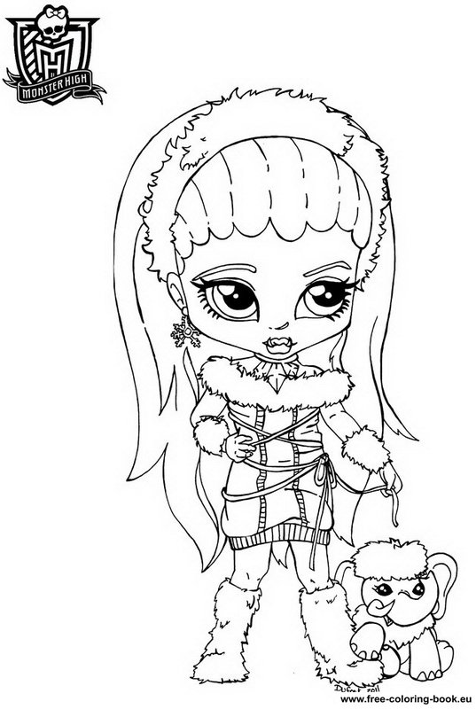 Free Printable Monster High Coloring Pages for Kids | Coloring ... | 800x537